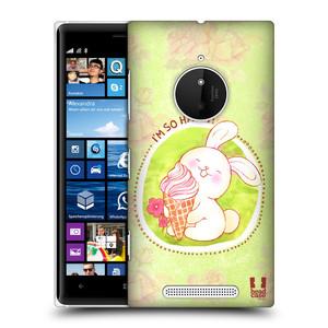Plastové pouzdro na mobil Nokia Lumia 830 HEAD CASE KRÁLÍČEK A ZMRZKA