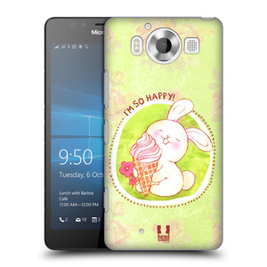 Plastové pouzdro na mobil Microsoft Lumia 950 HEAD CASE KRÁLÍČEK A ZMRZKA