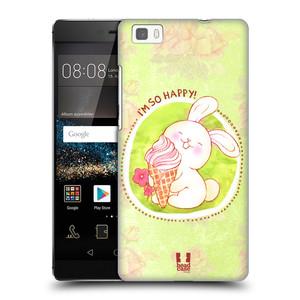 Plastové pouzdro na mobil Huawei P8 Lite HEAD CASE KRÁLÍČEK A ZMRZKA