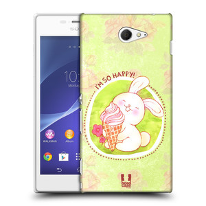 Plastové pouzdro na mobil Sony Xperia M2 D2303 HEAD CASE KRÁLÍČEK A ZMRZKA