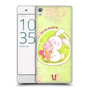 Plastové pouzdro na mobil Sony Xperia XA HEAD CASE KRÁLÍČEK A ZMRZKA
