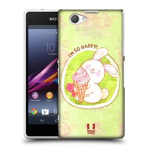 Plastové pouzdro na mobil Sony Xperia Z1 Compact D5503 HEAD CASE KRÁLÍČEK A ZMRZKA