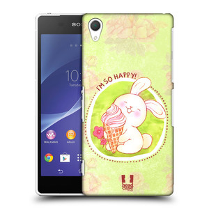 Plastové pouzdro na mobil Sony Xperia Z2 D6503 HEAD CASE KRÁLÍČEK A ZMRZKA