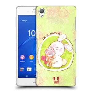 Plastové pouzdro na mobil Sony Xperia Z3 D6603 HEAD CASE KRÁLÍČEK A ZMRZKA