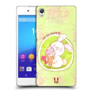 Plastové pouzdro na mobil Sony Xperia Z3+ (Plus) HEAD CASE KRÁLÍČEK A ZMRZKA