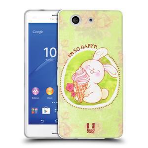 Silikonové pouzdro na mobil Sony Xperia Z3 Compact D5803 HEAD CASE KRÁLÍČEK A ZMRZKA