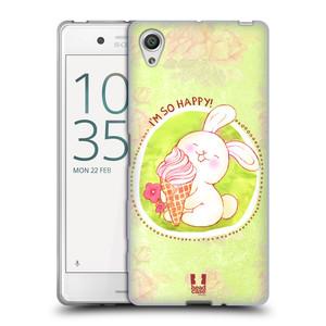 Silikonové pouzdro na mobil Sony Xperia X HEAD CASE KRÁLÍČEK A ZMRZKA