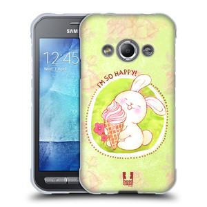 Silikonové pouzdro na mobil Samsung Galaxy Xcover 3 HEAD CASE KRÁLÍČEK A ZMRZKA