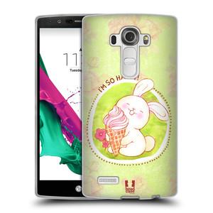 Silikonové pouzdro na mobil LG G4 HEAD CASE KRÁLÍČEK A ZMRZKA