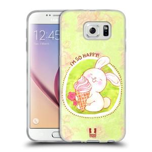 Silikonové pouzdro na mobil Samsung Galaxy S6 HEAD CASE KRÁLÍČEK A ZMRZKA