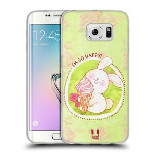 Silikonové pouzdro na mobil Samsung Galaxy S6 Edge HEAD CASE KRÁLÍČEK A ZMRZKA