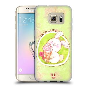 Silikonové pouzdro na mobil Samsung Galaxy S7 Edge HEAD CASE KRÁLÍČEK A ZMRZKA