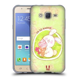 Silikonové pouzdro na mobil Samsung Galaxy J5 HEAD CASE KRÁLÍČEK A ZMRZKA
