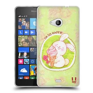 Silikonové pouzdro na mobil Microsoft Lumia 535 HEAD CASE KRÁLÍČEK A ZMRZKA