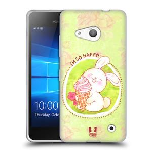 Silikonové pouzdro na mobil Microsoft Lumia 550 HEAD CASE KRÁLÍČEK A ZMRZKA