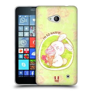 Silikonové pouzdro na mobil Microsoft Lumia 640 HEAD CASE KRÁLÍČEK A ZMRZKA
