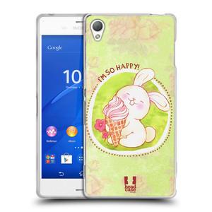 Silikonové pouzdro na mobil Sony Xperia Z3 D6603 HEAD CASE KRÁLÍČEK A ZMRZKA