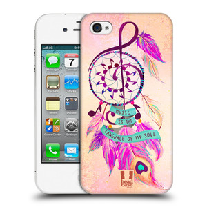 Plastové pouzdro na mobil Apple iPhone 4 a 4S HEAD CASE Lapač Assorted Music
