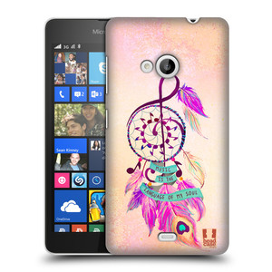 Plastové pouzdro na mobil Microsoft Lumia 535 HEAD CASE Lapač Assorted Music