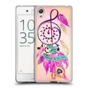 Silikonové pouzdro na mobil Sony Xperia X HEAD CASE Lapač Assorted Music