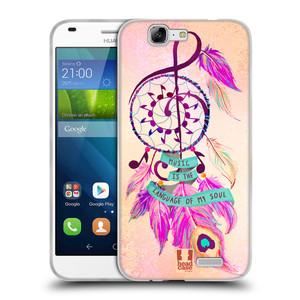 Silikonové pouzdro na mobil Huawei Ascend G7 HEAD CASE Lapač Assorted Music