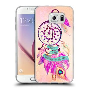 Silikonové pouzdro na mobil Samsung Galaxy S6 HEAD CASE Lapač Assorted Music