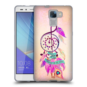 Silikonové pouzdro na mobil Honor 7 HEAD CASE Lapač Assorted Music