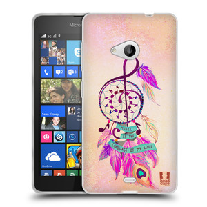 Silikonové pouzdro na mobil Microsoft Lumia 535 HEAD CASE Lapač Assorted Music