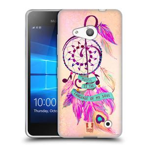 Silikonové pouzdro na mobil Microsoft Lumia 550 HEAD CASE Lapač Assorted Music