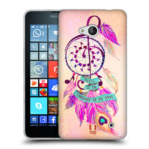 Silikonové pouzdro na mobil Microsoft Lumia 640 HEAD CASE Lapač Assorted Music