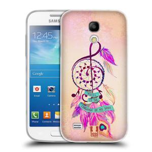 Silikonové pouzdro na mobil Samsung Galaxy S4 Mini HEAD CASE Lapač Assorted Music