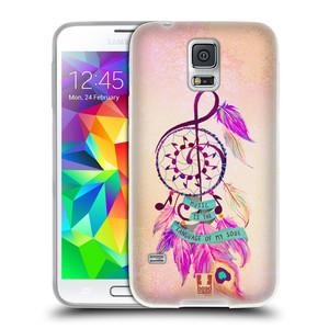 Silikonové pouzdro na mobil Samsung Galaxy S5 Neo HEAD CASE Lapač Assorted Music