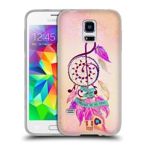 Silikonové pouzdro na mobil Samsung Galaxy S5 Mini HEAD CASE Lapač Assorted Music