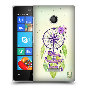 Plastové pouzdro na mobil Microsoft Lumia 435 HEAD CASE Lapač Assorted Compass