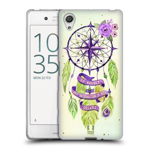 Silikonové pouzdro na mobil Sony Xperia X HEAD CASE Lapač Assorted Compass