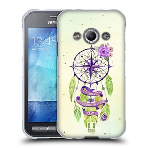 Silikonové pouzdro na mobil Samsung Galaxy Xcover 3 HEAD CASE Lapač Assorted Compass