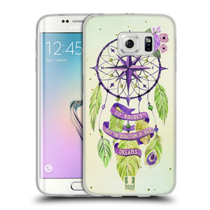 Silikonové pouzdro na mobil Samsung Galaxy S6 Edge HEAD CASE Lapač Assorted Compass