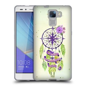 Silikonové pouzdro na mobil Honor 7 HEAD CASE Lapač Assorted Compass