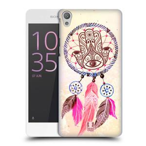 Plastové pouzdro na mobil Sony Xperia E5 HEAD CASE Lapač Assorted Hamsa