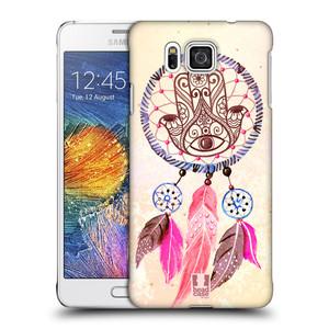 Plastové pouzdro na mobil Samsung Galaxy Alpha HEAD CASE Lapač Assorted Hamsa