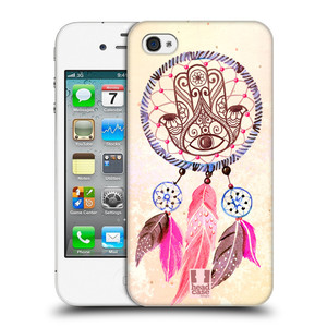 Plastové pouzdro na mobil Apple iPhone 4 a 4S HEAD CASE Lapač Assorted Hamsa