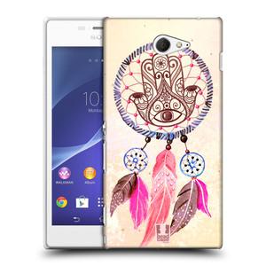 Plastové pouzdro na mobil Sony Xperia M2 D2303 HEAD CASE Lapač Assorted Hamsa