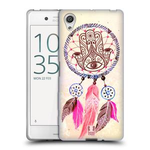Silikonové pouzdro na mobil Sony Xperia X HEAD CASE Lapač Assorted Hamsa