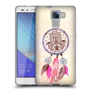 Silikonové pouzdro na mobil Honor 7 HEAD CASE Lapač Assorted Hamsa