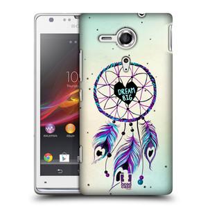 Plastové pouzdro na mobil Sony Xperia SP C5303 HEAD CASE Lapač Assorted Dream Big Srdce