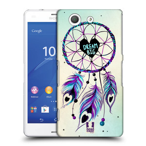 Plastové pouzdro na mobil Sony Xperia Z3 Compact D5803 HEAD CASE Lapač Assorted Dream Big Srdce