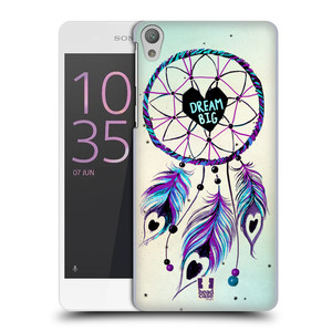 Plastové pouzdro na mobil Sony Xperia E5 HEAD CASE Lapač Assorted Dream Big Srdce