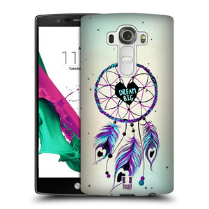 Plastové pouzdro na mobil LG G4 HEAD CASE Lapač Assorted Dream Big Srdce