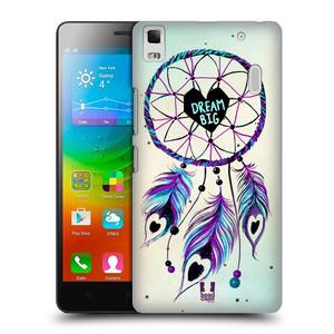 Plastové pouzdro na mobil Lenovo A7000 HEAD CASE Lapač Assorted Dream Big Srdce