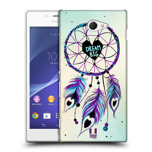Plastové pouzdro na mobil Sony Xperia M2 D2303 HEAD CASE Lapač Assorted Dream Big Srdce